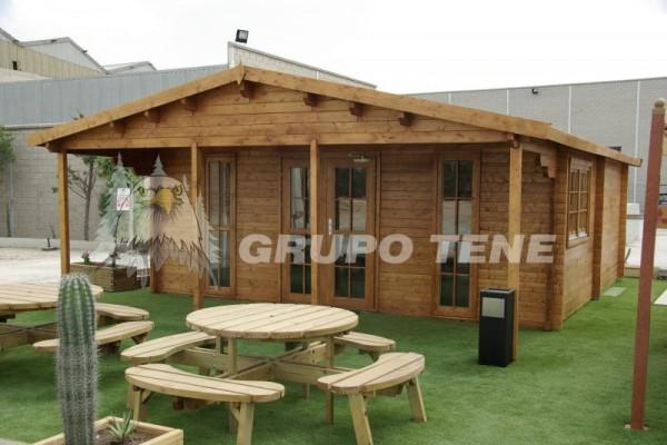 Caba as de madera en grupo tene viviendu for Cabana madera ninos