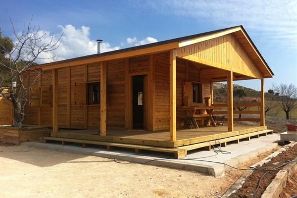 Caba as de madera en ciudad real viviendu for Cabanas madera baratas