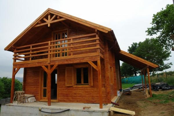 Casas de madera en am chalets viviendu for Casas prefabricadas asturias