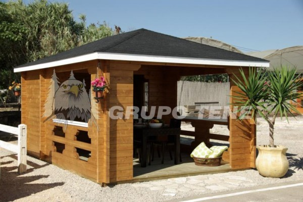 Casetas de madera en grupo tene viviendu for Casetas de resina aki