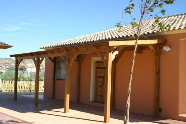 P rgolas porches y cenadores en madera siglo xxi casas - Pergolas y porches ...