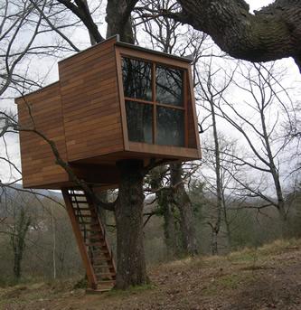 Caba as de madera viviendu - Cabanas de madera en arboles ...