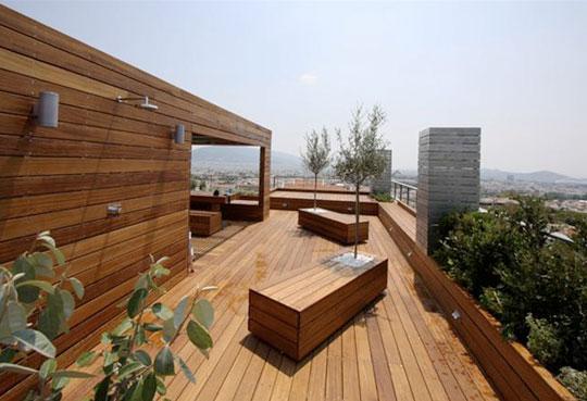 Casas de madera en arquitectura inteligente 10 viviendu for Terrazas en azoteas de casas