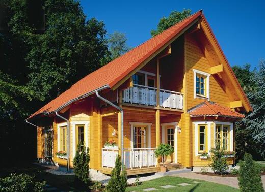 Caba as de madera en amadera deluxe viviendu for Casas de madera baratas
