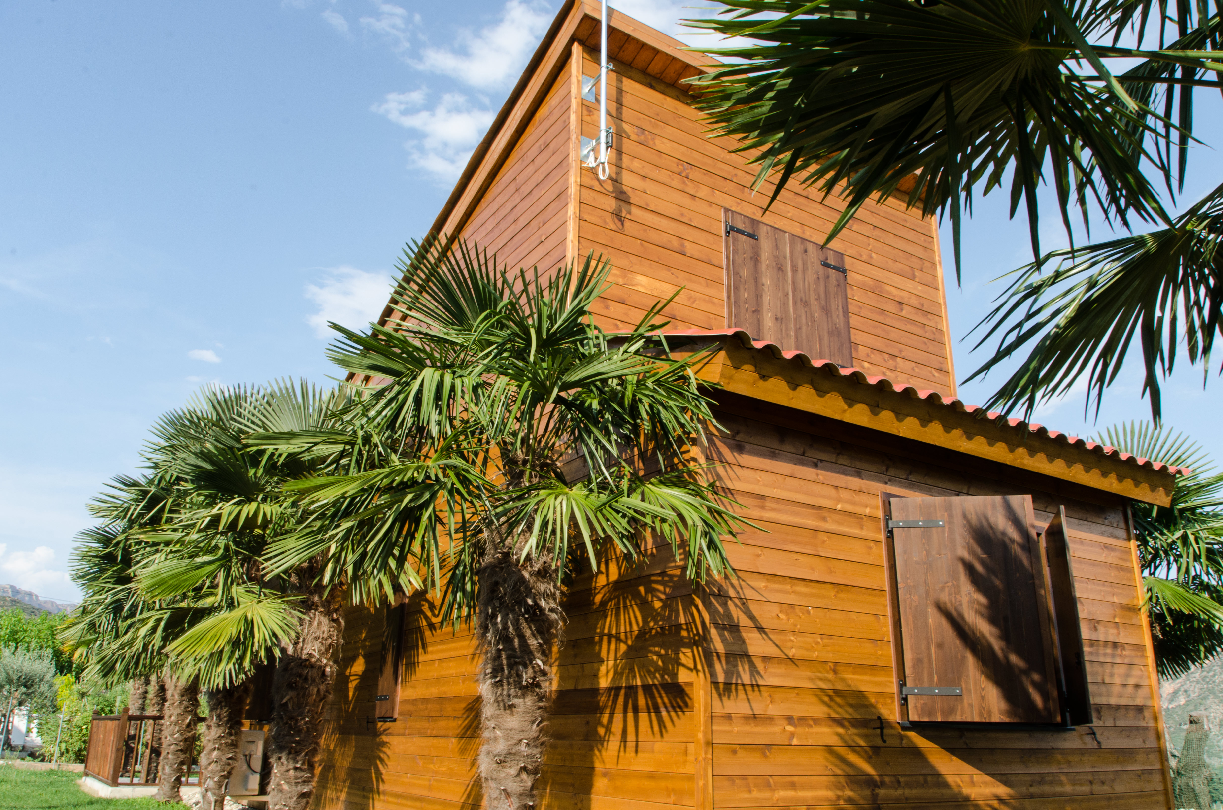 exterior cabaña de madera
