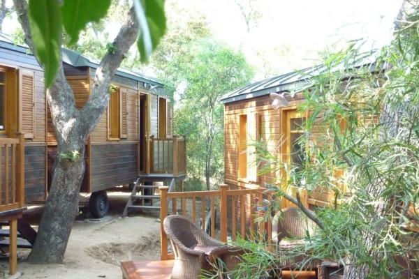 Cabañas de madera en Casa Alternativa 6190