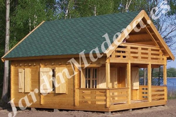 Caba as de madera en viviendu for Cabana madera precio