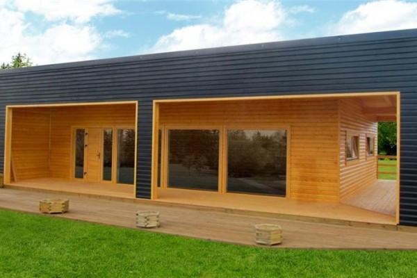 Casas de madera en donacasa viviendu for Casas prefabricadas de diseno minimalista