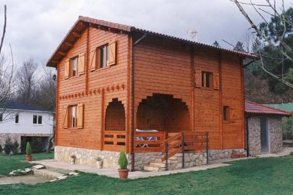 Caba as de madera en las caba as viviendu - Casas prefabricadas de madera espana ...