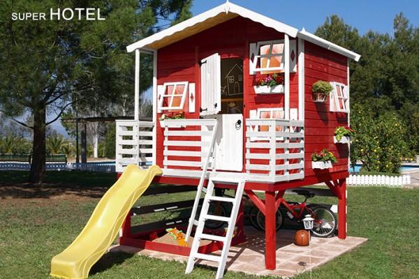 Casetas de madera viviendu for Casa infantil jardin