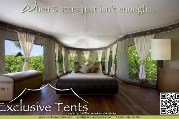 Jaimas, Tipis y Yurtas en Exclusive Tents 5502