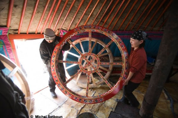 Jaimas, Tipis y Yurtas en Yurta Mongol 1598
