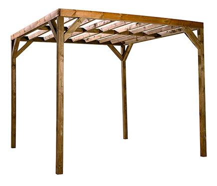 Leroy merlin pergolas madera beautiful madera para jardin for Maderas tratadas para exterior leroy merlin