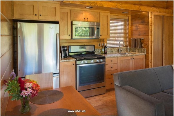 Cabañas de madera en Canadian Nordic House 9101