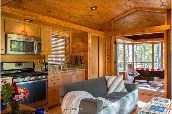 Cabañas de madera en Canadian Nordic House 9100