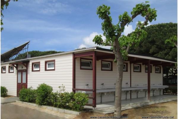 Cabañas de madera en Canadian Nordic House 9096