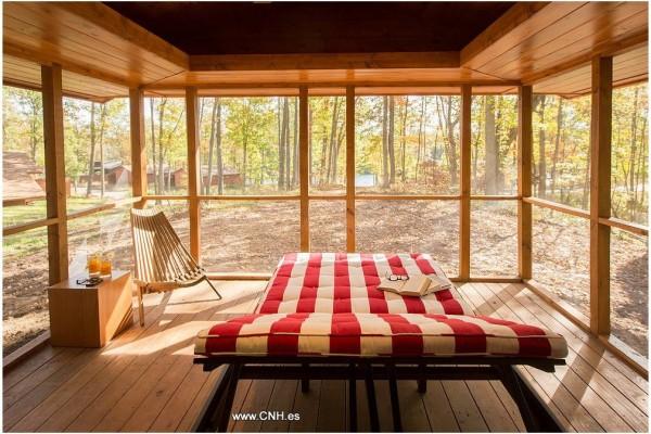 Cabañas de madera en Canadian Nordic House 9086