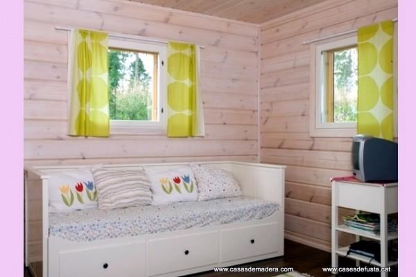 Cabañas de madera en Canadian Nordic House 9107