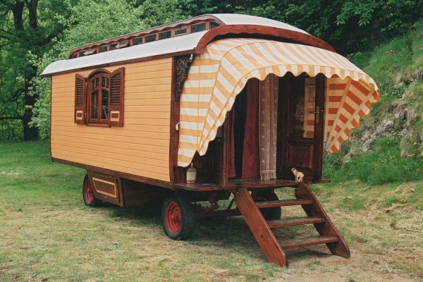 Cabañas de madera en Les Roulottes du Travers 11056