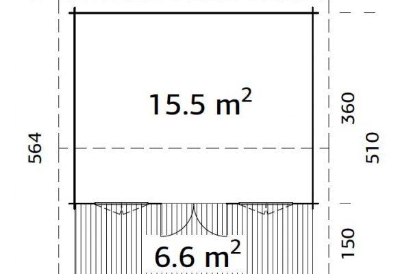 Casetas de madera en Hortum 11300