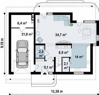 Casas modulares en  Casas Prefabricadas Innarq 12557
