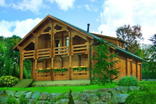 Casas de madera en chalet de madera viviendu - Casa rural el tomillar ...